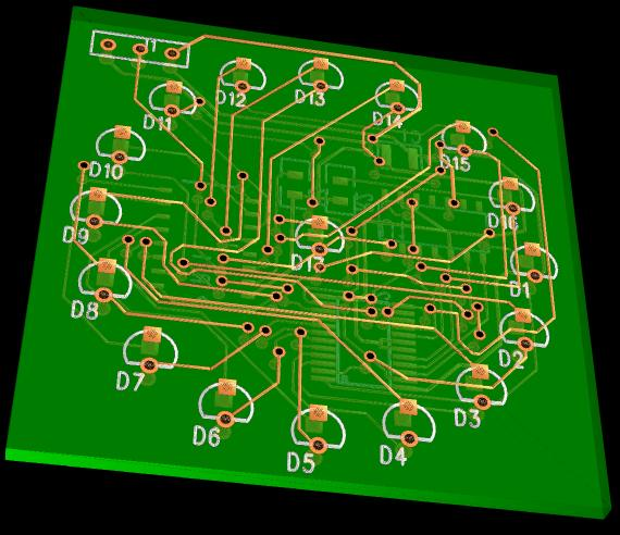 The PCB will look something like this.