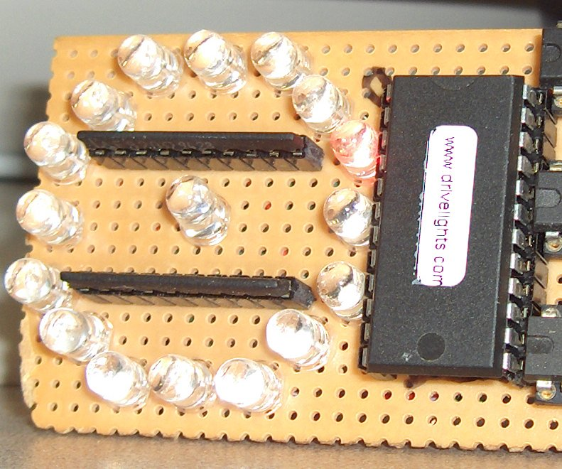 Closeup photograph of the original prototype board